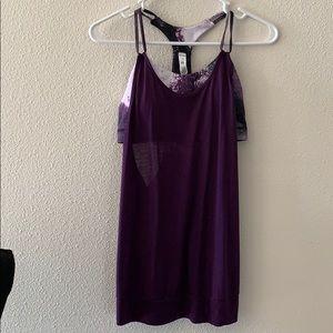 Alo purple tank workout top